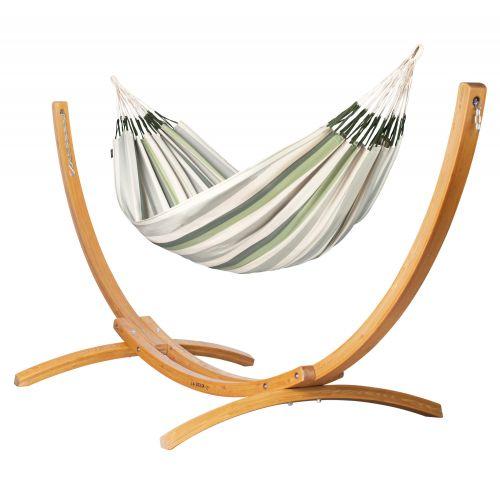 Brisa Cedar - Klassisk dobbelt-hængekøje med stativ af FSC™-certificeret lærketræ