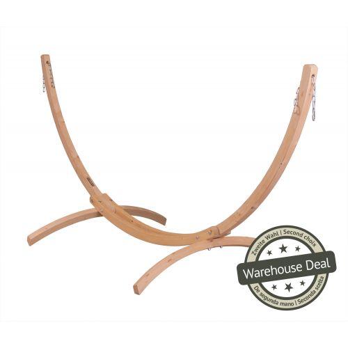 Canoa Caramel - Stativ af FSC™-certificeret grantræ til single-hængekøjer