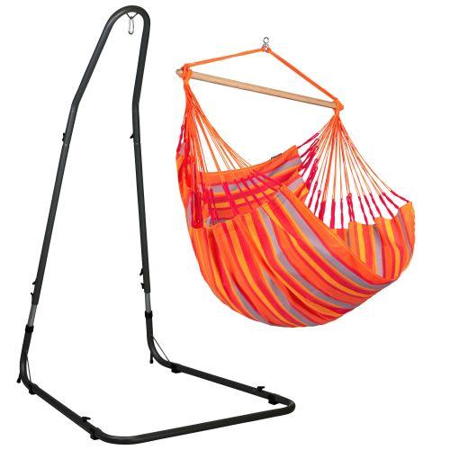 Domingo Toucan - Comfort-hængekøjestol med pulverlakeret stål- stativ