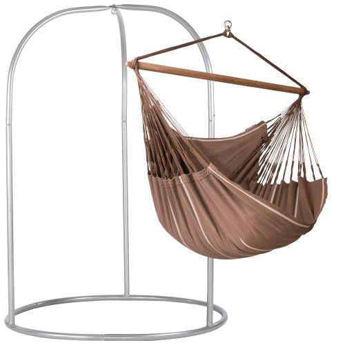 Habana Chocolate - Lounger-hængekøjestol med pulverlakeret stål- stativ