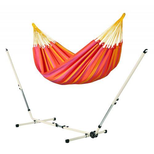 Sonrisa Mandarine - Klassisk single-hængekøje med pulverlakeret stål- stativ