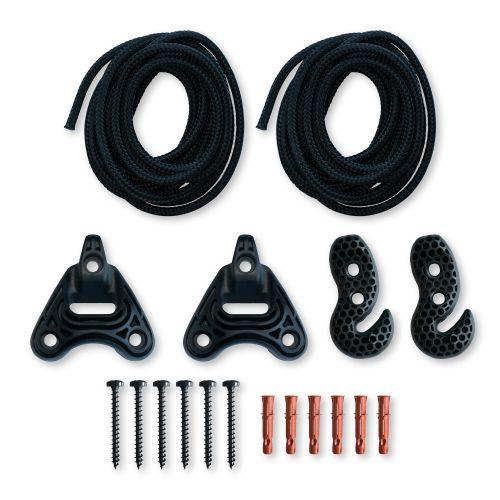 Universal Rope Black - Allround- monteringssæt til hængekøjer